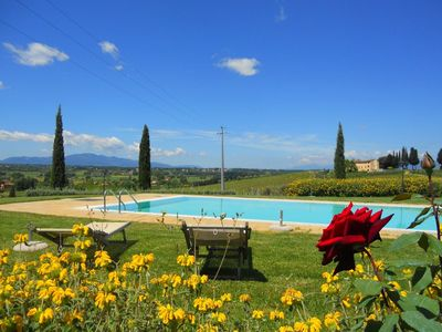Photo for Perfectly rural location, apartment with swimming pool.