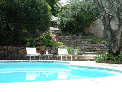 Photo for air-conditioned villa - cannes center 2min from beaches - 6 pers- private pool