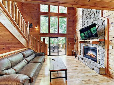 "Photo for New Listing! ""Could Not Ask For More"" Luxury Cabin w/ Hot Tub & Home Theater"