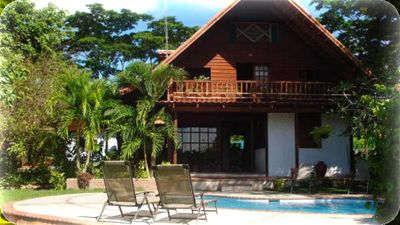 Photo for Relaxing Chalet w/ private pool...4 MIN WALK TO CABUYA BEACH! !