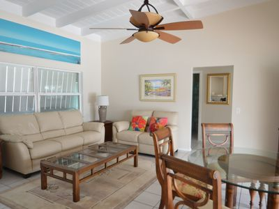 Photo for On Water!  4 Bedroom POOL Home * Walk to the Beach, Restaurants & Bar