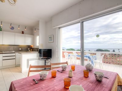 Photo for Apartment 438 m from the center of Cavalaire-sur-Mer with Parking, Internet, Washing machine, Terrace (448439)