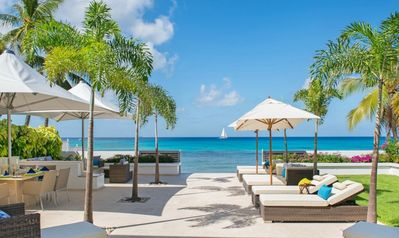 Photo for Four bedroom beachfront villa situated on the powered sands of Fitts Village in Barbados