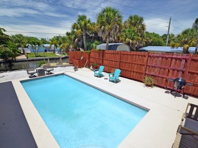 Photo for Eclectic Siesta Key Water Front Home w/ Swimming Pool - Steps to Village