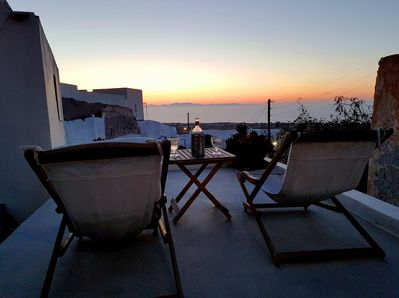 Sunset and sea view from the terrace