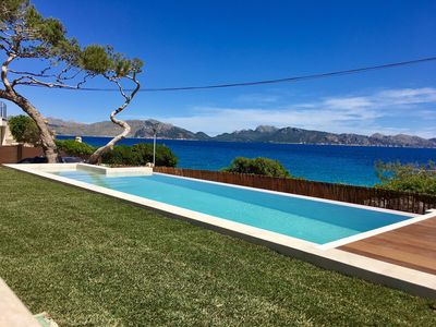 Photo for LUXURY VILLA ON THE FIRST SEA LINE WITH HEATED POOL