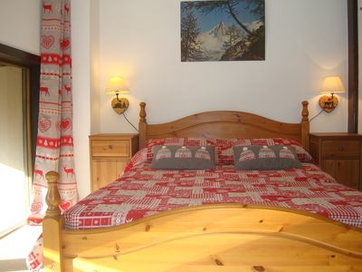 Photo for Appart 300M hiking trail telecab, Argentière Chamonix, furnished 2 *