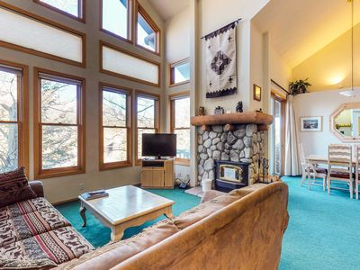 Photo for Townhouse w/ shared hot tub & deck w/ mountain view - near golfing & skiing!