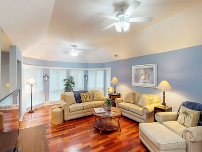 Photo for NEW LISTING! Renovated villa w/ lovely sunroom & golf/tennis- walk to beach
