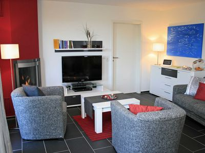 Photo for Apartment with fireplace and sauna on the upper floor - Villa Harmonie OG2