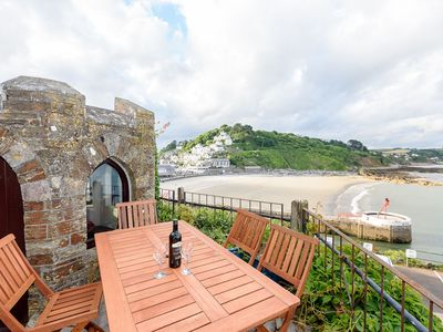Photo for Superb sea front apartment with parking, garden and wifi.