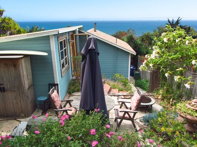 Photo for Charming Summerland Beach Cottage with Ocean View...walk to town and beach!
