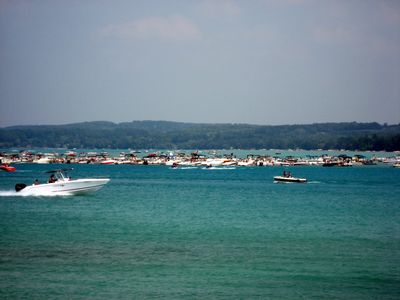 The Famous Torch Lake Sandbar About 2 Miles South