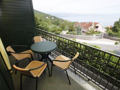 Photo for One bedroom apartment with balcony and sea view Ičići, Opatija (A-7764-a)