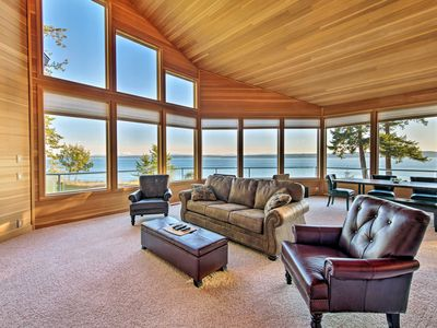 Photo for Marrowstone Island Home on Puget Sound w/Mtn Views