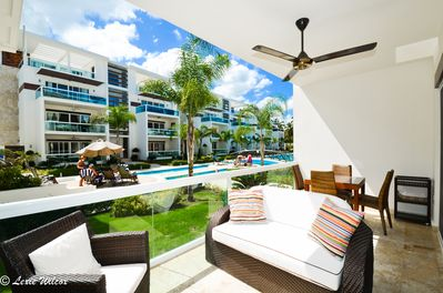 Amazing View of Pool- Front Terrace as you Sip on your Tropical, Fruity drink! ♡