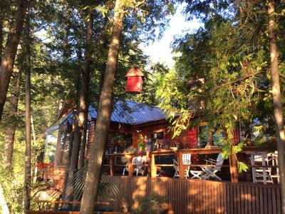Photo for Luxury Chalet on Lakefront, Sleeps 8, Rhéaume Lake, 35 minutes to Ottawa