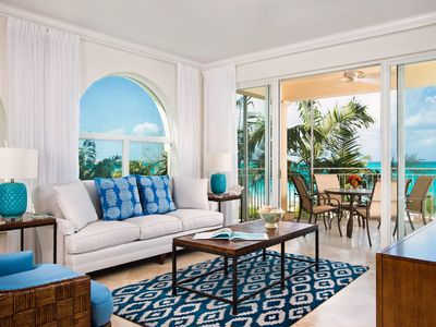 Newly Redecorated Oceanfront 3 Bedroom Condo at The Tuscany Resort on Grace Bay