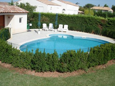 Photo for Villa sleeps 10 with private pool secured
