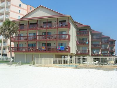 Southern Sands Condo.  Right on the beach