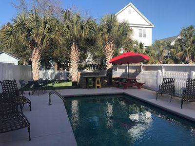 Photo for BACKYARD OASIS: Private Heated Pool, Hot Tub, & Fire pit: 200 Steps to the Beach