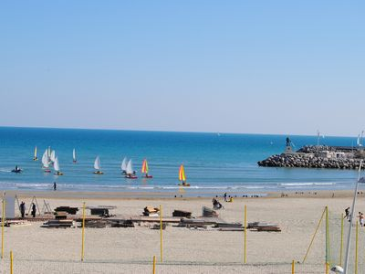 "Photo for Facing the sea, the ""244 BEACH"" in the center of PALAVAS-LES-FLOTS."