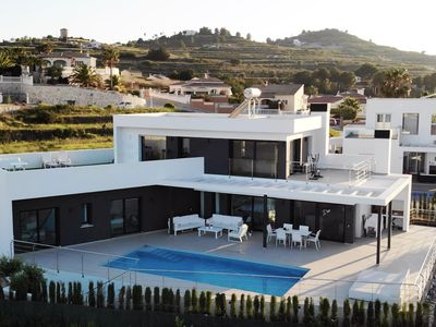 Photo for LUXURY DESIGN VILLA with panoramic view