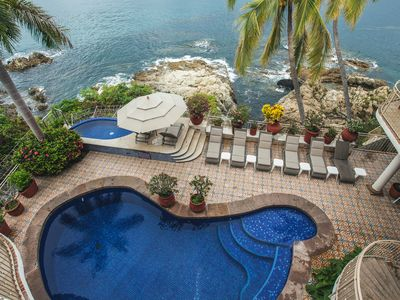 Photo for Fantastic ocean front house in Conchas chinas, private pool ,stunning views,