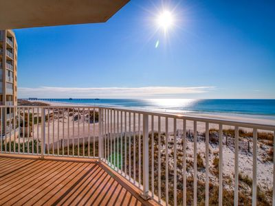 Photo for Beachfront condo w/ wrap-around balcony, great view & shared pools/hot tubs!