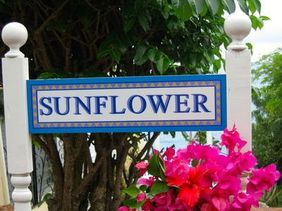 Sunflower is one of three vacation apartments at Stonehouse.
