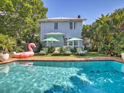 Photo for NEW! The Citrus Cottage w/ Large Pool, Covered Porch, Close to Beach, Sleeps 8!
