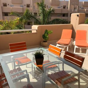 Photo for Luxury apartment, terrace 32 m2 in the sun, heated pool view