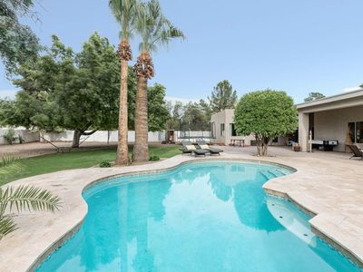 Photo for NEW LISTING! Remodeled home w/a private pool, built-in gas BBQ, on 1/2 acre lot!
