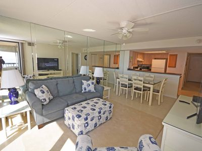 Photo for Comfortable, cozy 3-bedroom oceanfront condo with free WiFi, a breathtaking ocean view, an indoor and outdoor pool, and more located uptown and mere steps to the beach!