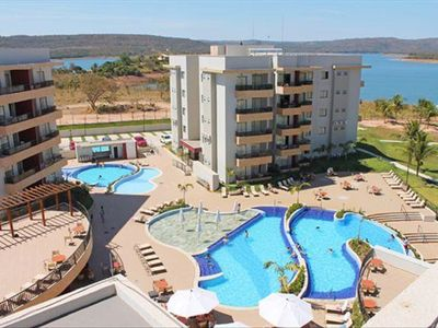 Photo for Marina Flat Náutica Resort Caldas Novas 4 + 1 child up to 12X No Interest