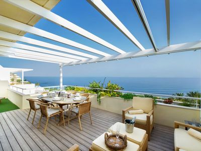 Photo for Superb Beachside Penthouse Cabopino, Unrivalled Sea Views, Private Pool
