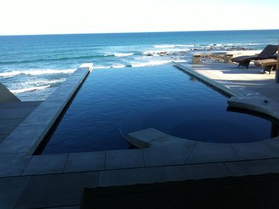 Photo for Beach Front 8,500 Sq Ft Villa, Infinity Pool, Pristine Swimming