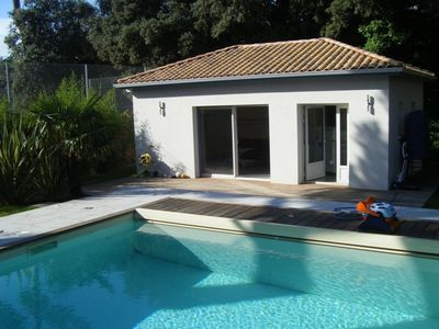 Photo for Unique house in Royan Park with a private pool, close to the beach