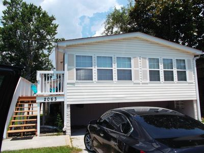 Photo for Raised Beach Cottage With Golf Cart Just Blocks From Beach