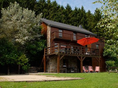 Photo for Spacious detached house in the valley of the Ourthe with sauna and fireplace