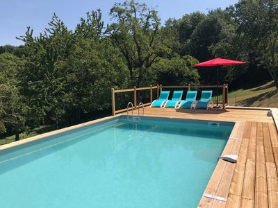 Photo for A beautiful French farmhouse with private swimming pool and stunning views