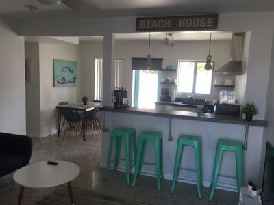 Photo for Fully renovated one bedroom apartment a minute away from Lido Beach.