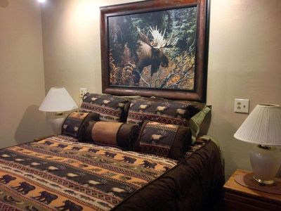 Nicely appointed Bedroom (1) with comfortable queen matress