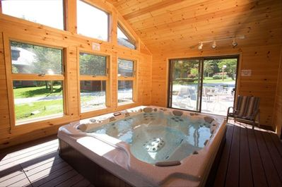 Hot tub in ammenity building