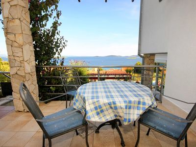 Photo for One bedroom apartment with terrace and sea view Orebić (Pelješac)