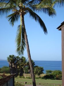View from our lanai...You can see out to Molokini
