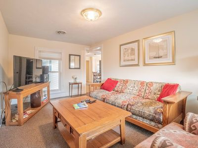 Michiana Apartment #4 Family Room with large screen TV, Comcast cable and WiFi.