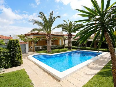Photo for 8 bedroom Villa, sleeps 14 with Pool, FREE WiFi and Walk to Beach & Shops
