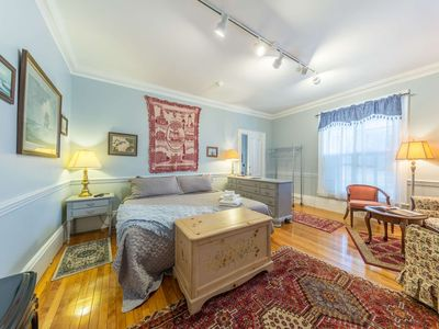 Photo for Walk to Most Enchanting Downtown! Spacious from Christmas Tree House -King bed, Parking, WiFi