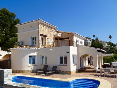 Photo for Beautiful villa  with amazing sea view and extraordinary privacy